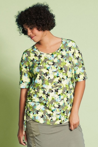 Shirt Aprico trekkoord zijnaad   A8061lime52
