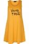 Zizzi jurk mouwloos Mineral opdruk | V50098E0734S