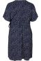 Zizzi print jurk overslag CAANNI   CA02310CblwhXXL