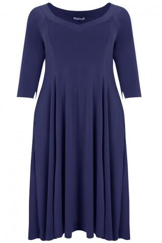 Mat jurk klokkend model | 76017014BlueL=52-54