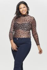 Shirt Only Carmakoma MESH leopard