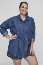 Blouse Junarose Allegra denim loose