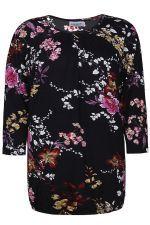 Shirt Zhenzi rimpel hals
