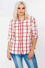 Blouse October rode ruit