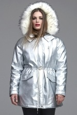 Jas Mat fashion zilver look