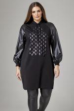 Tuniek Mat fashion leatherlook detai