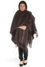 Sjaal Boris poncho fleece