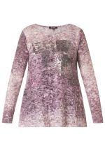 Shirt Yesta gemarmerd met opdruk