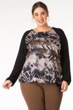 Shirt Yesta print voor uni mouwen