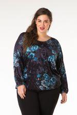 Shirt Yesta velour print