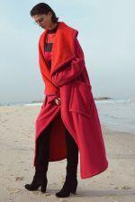 Jas Alembika 2 kleurig fleece borg
