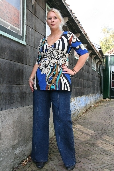 Grote maten flare jeans broek extra lang | 3002 26 | Gratis