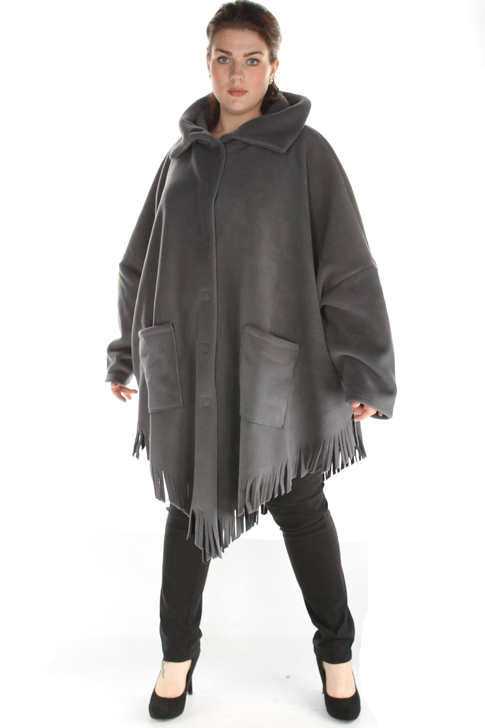 Jas Boris poncho model