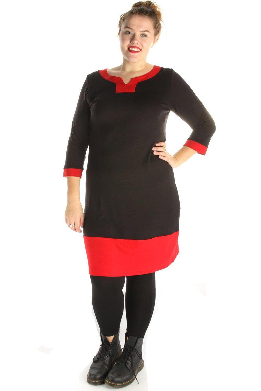 Jurk ADELLE Ophilia combi kleur 0207:black/red