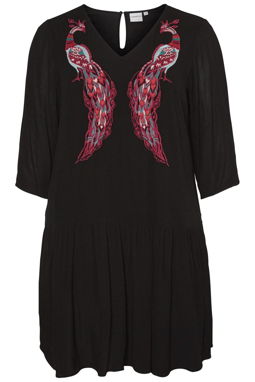 Junarose jurk Maike borduursel black beauty