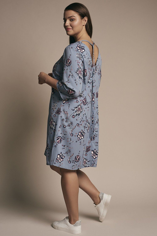 Junarose jurk Maya Zeenan ashley blue/aop