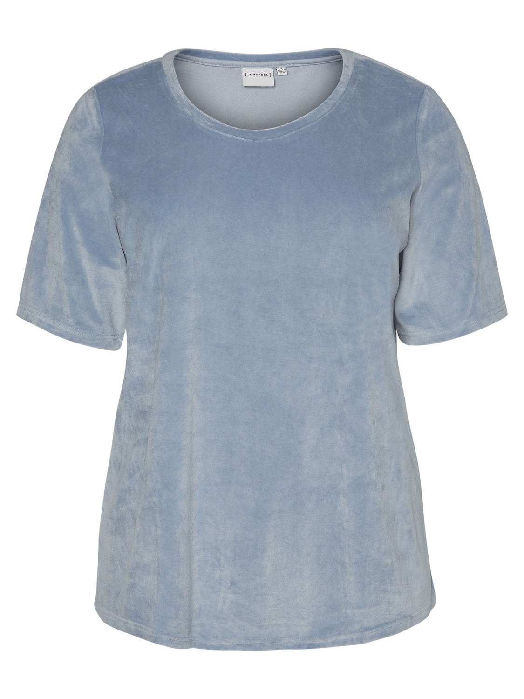 Shirt Junarose Mynte fluweel look