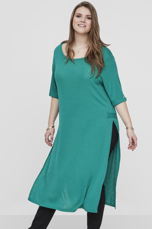 Junarose jurk Lorena met zijbandje pepper green