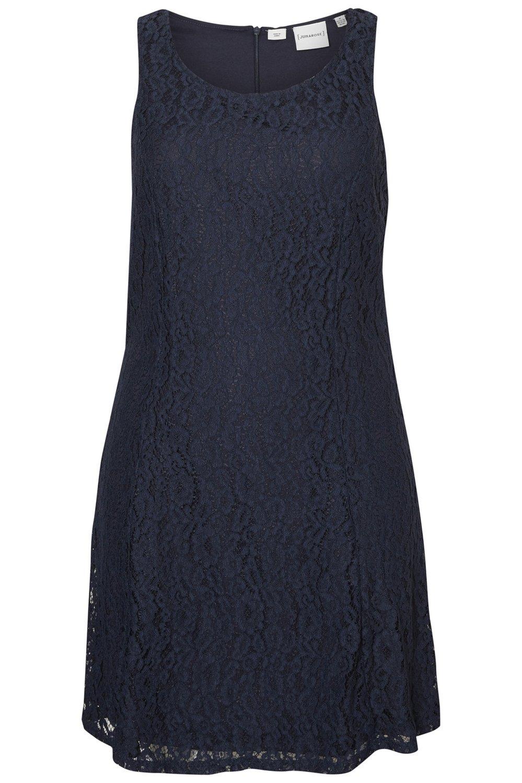 Junarose jurk Quinn kant navy blazer