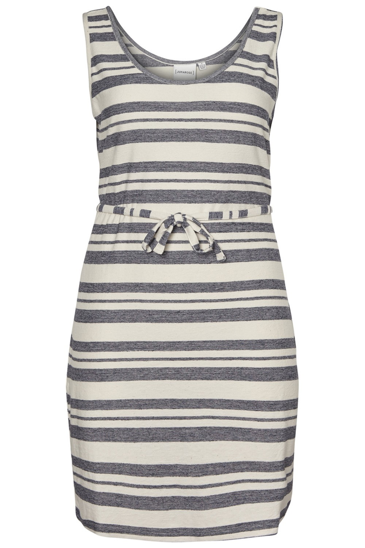 Junarose jurk Lessi mouwloos snow white/aop
