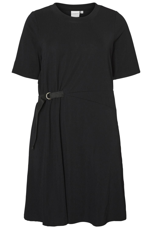Junarose jurk Cara ceintuur black beauty