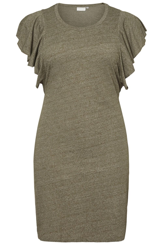 Junarose jurk Emmy ivy green/snow white
