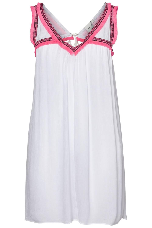Junarose jurk Brynja franjes snow white