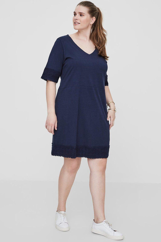 Junarose jurk MIE v-hals navy blazer