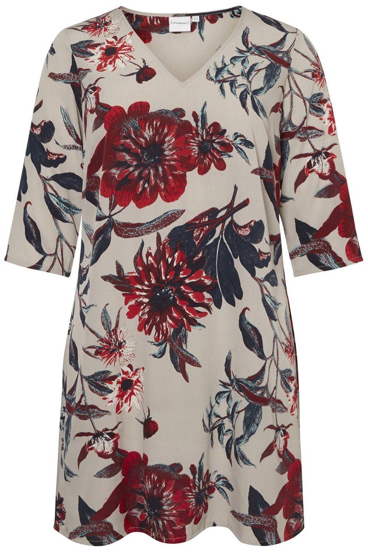 Junarose jurk Zeenan bloem porpoise