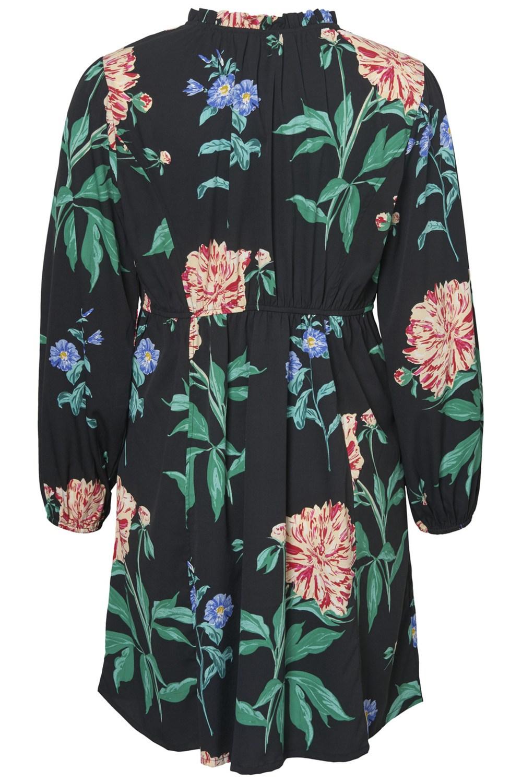 Junarose jurk PALIVA bloemprint black/grey