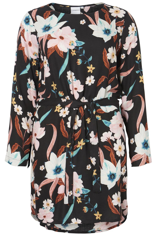 Junarose jurk PORCELY KEENAN bloem black/flower