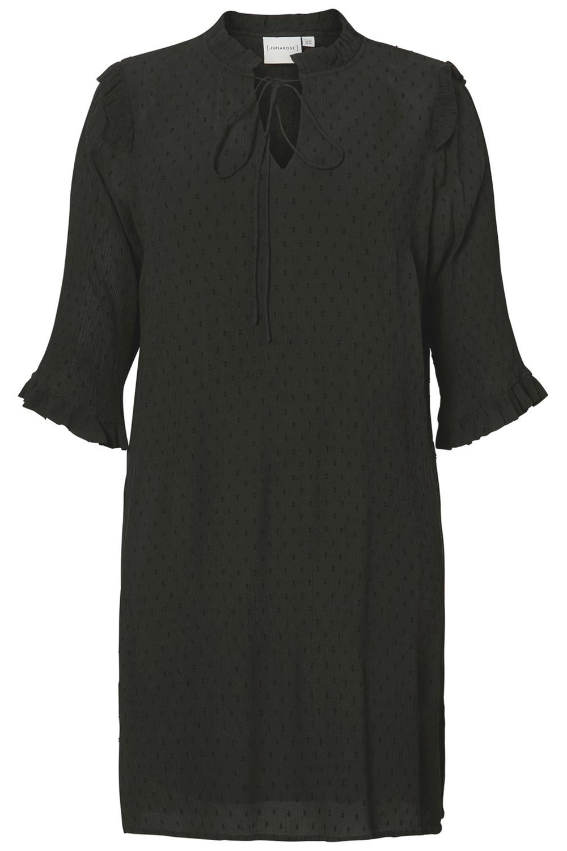 Junarose jurk NOLA swiss dots black