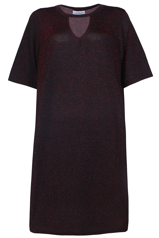 Jurk Zhenzi FLORIN glans tricot