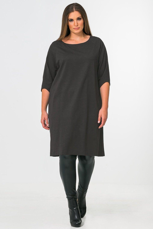 Jurk Mat fashion basic 3/4 mouw
