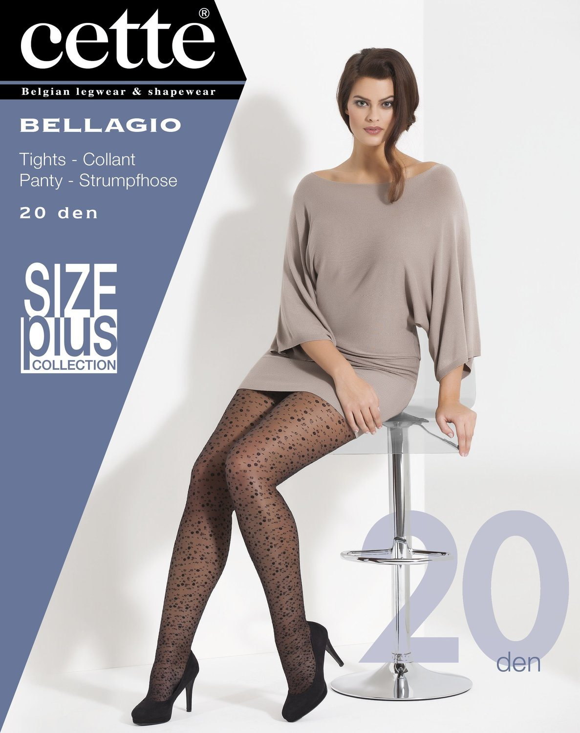 Panty Bellagio Cette 20den stippen