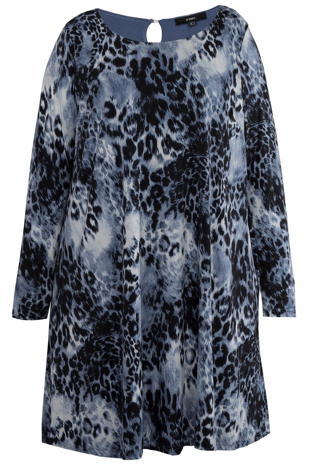 Jurk dieren print Fien X-two blue/multi-colour