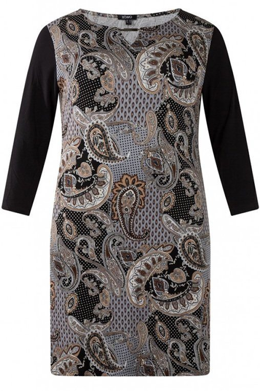 Jurk Fenna Print brown/multi-colour
