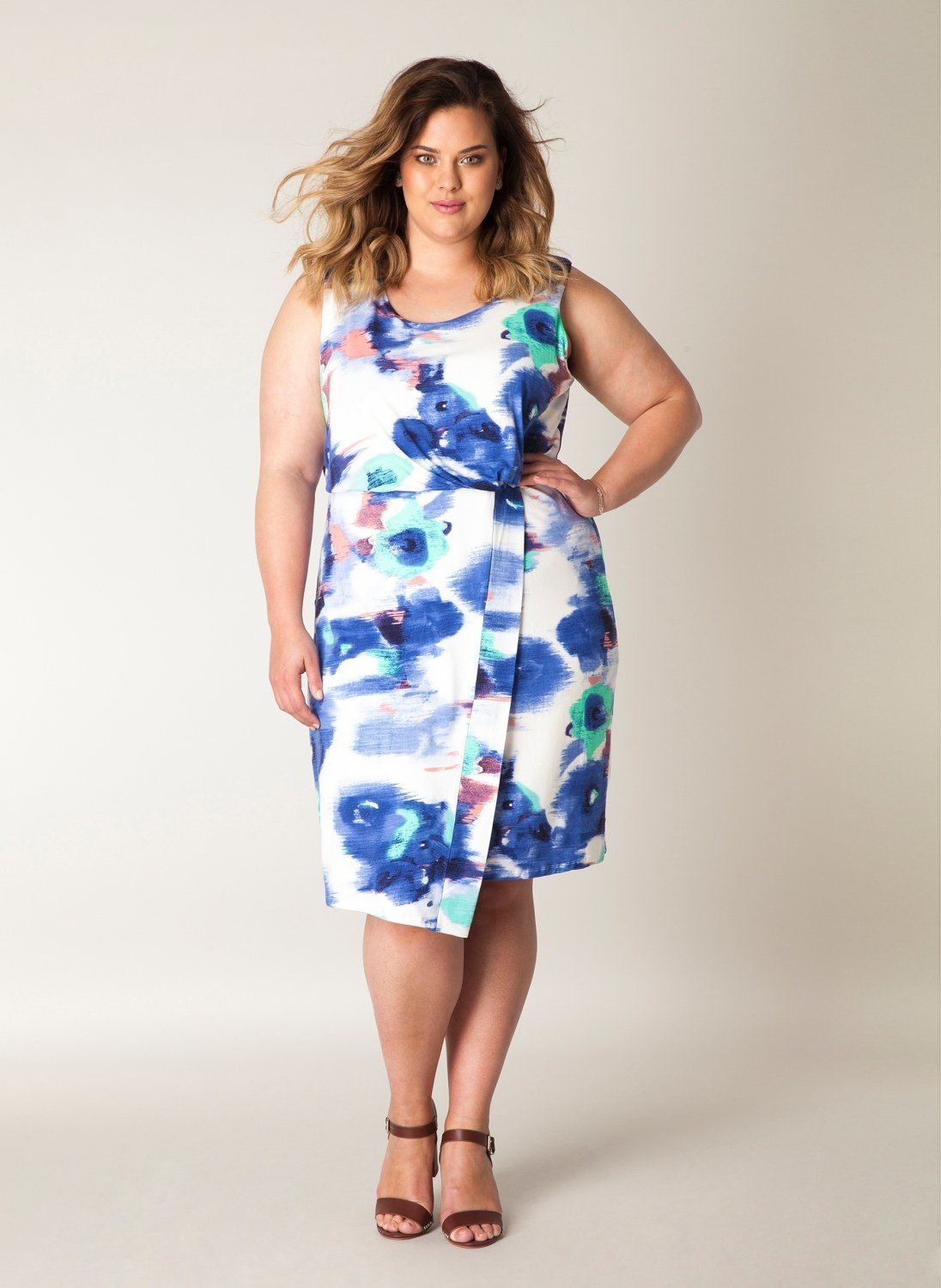 Jurk vlekken Yesta blue bell/multi-colour