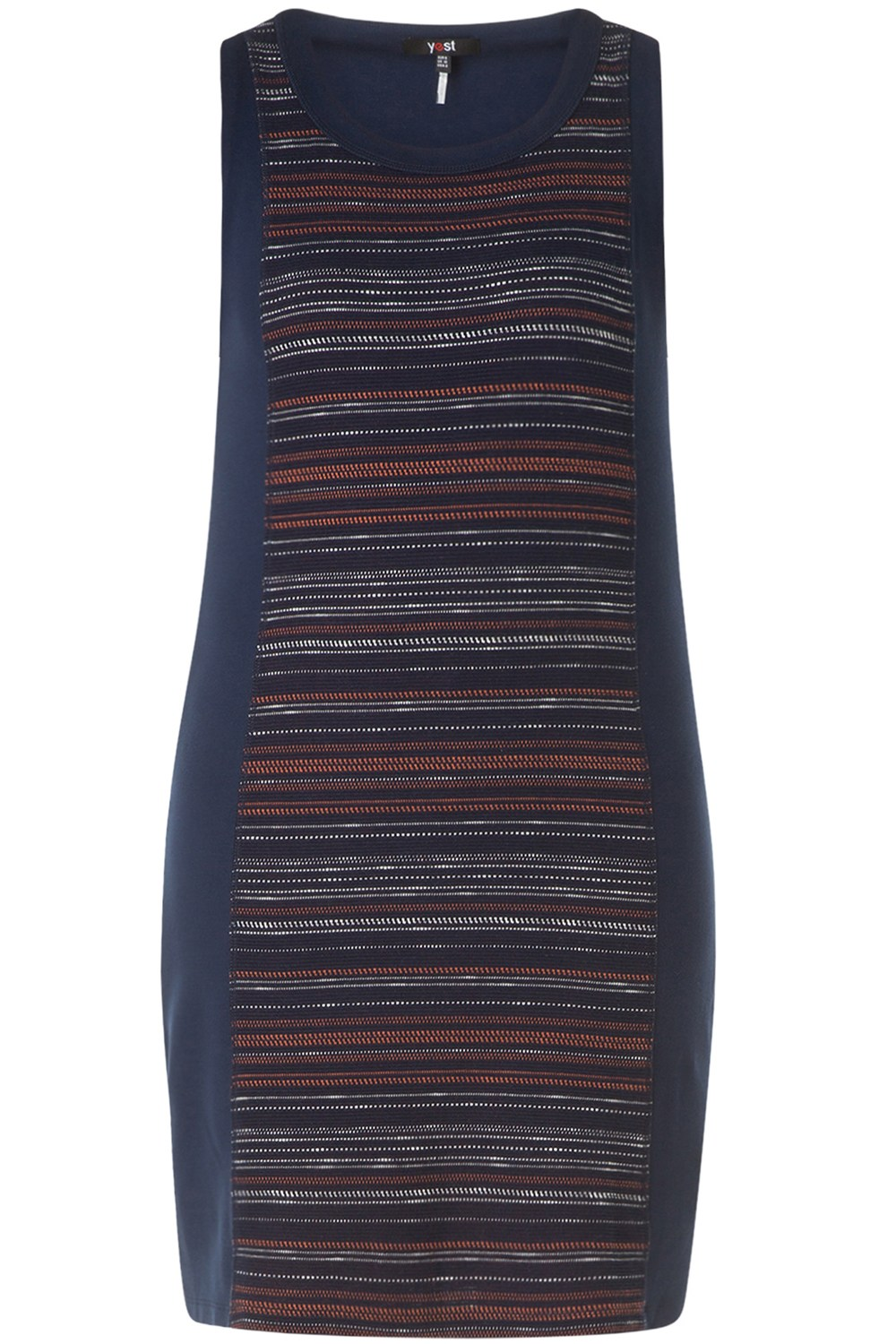 Yesta jurk deep blue/multi-colour