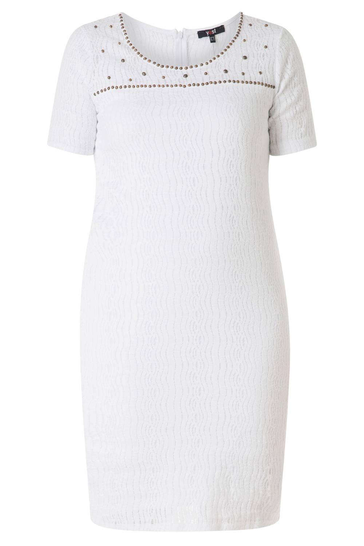 Yesta jurk white/white/aop