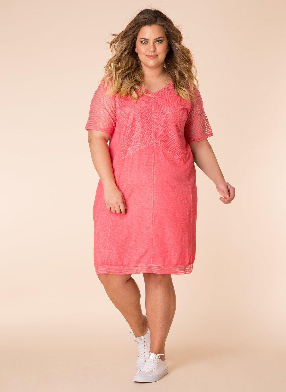 Yesta jurk twee lagen doorschijnend strawberry/strawberry