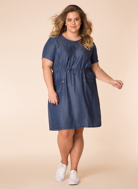 Yesta jurk getailleerd mid blue