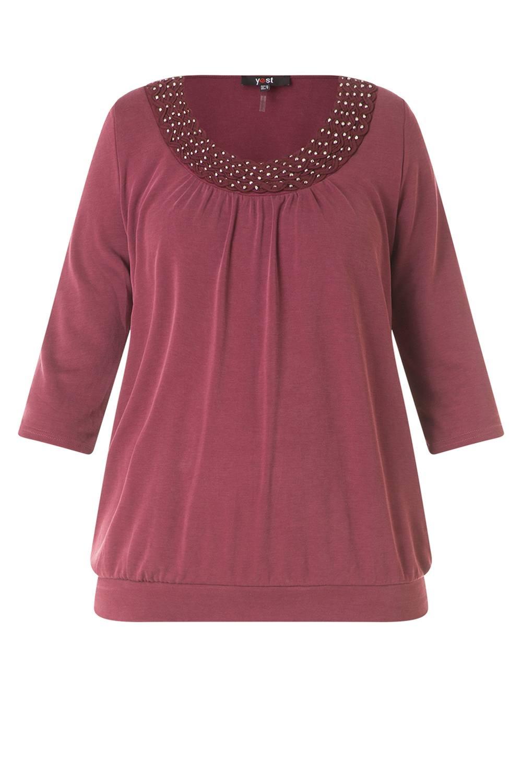 Shirt Yesta versierde hals