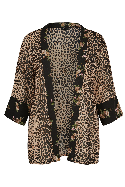 Blouse jasje Zizzi ELEONEA leopard