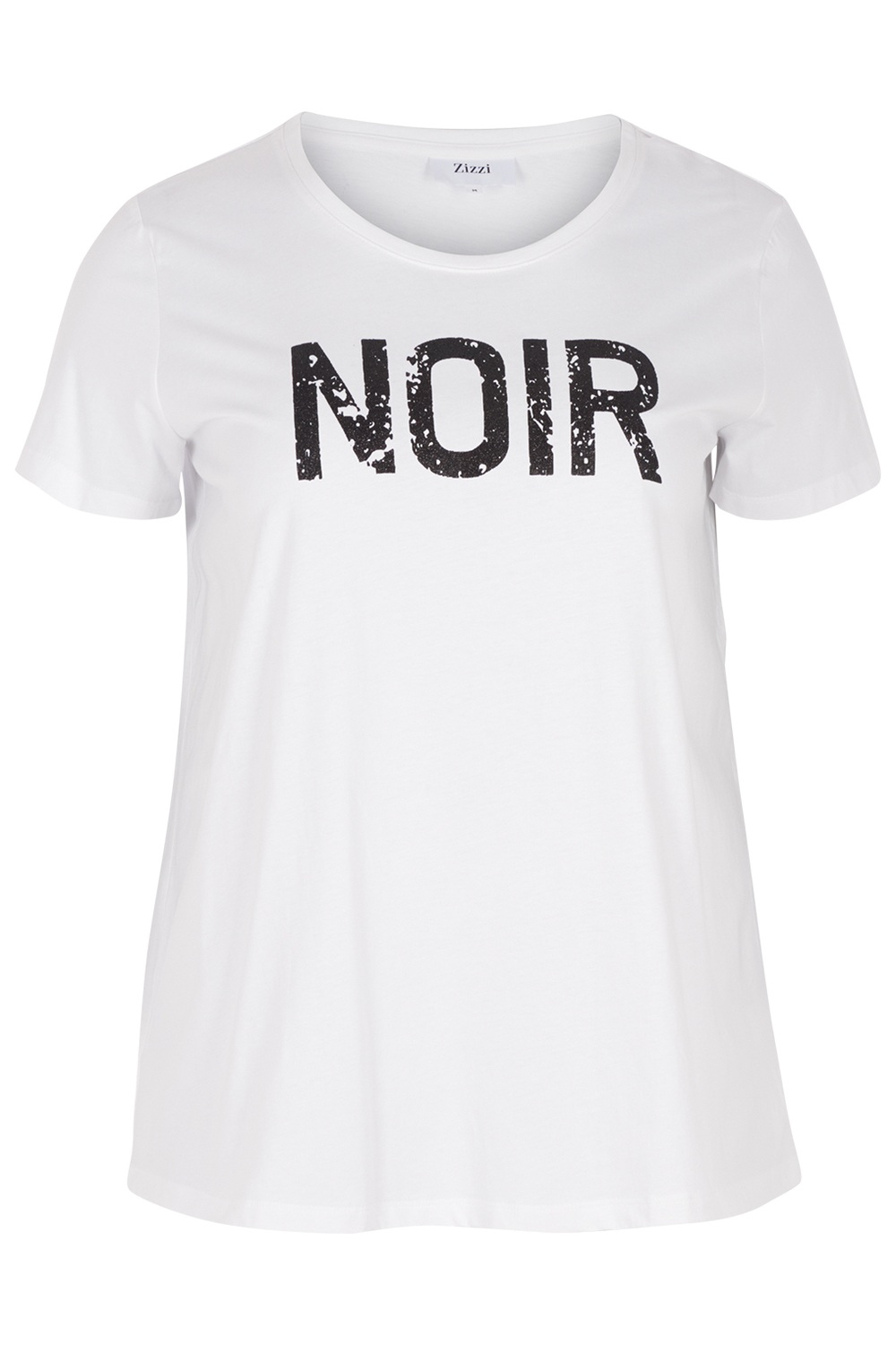 Shirt Zizzi FAITH tekst noir